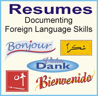 how to write resume foreign language skills