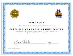 Posey Salem Internationally Certified Professional Resume